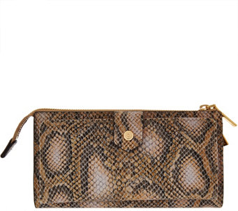 G.I.L.I. Exotic Embossed Leather Zip Around Wallet - A276583