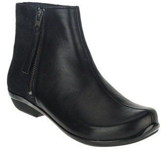 """As Is"" Dansko Leather or Suede Ankle Boots - Otis - A277683"