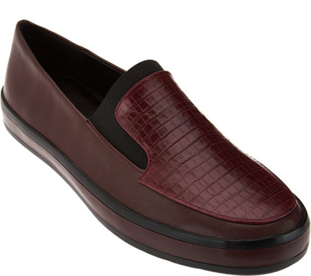 H by Halston Croco Embossed Slip-On Loafer - Ryleigh