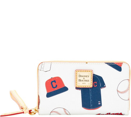 Dooney & Bourke MLB Indians Zip Around Phone Wristlet