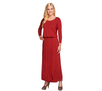 """As Is"" Nicole Richie Collection Regular Faux Wrap Maxi Dress - A281283"