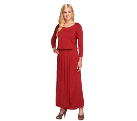 """As Is"" Nicole Richie Collection Regular Faux Wrap Maxi Dress"