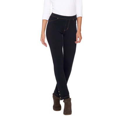 """As Is"" Susan Graver Weekend French Knit Jeggings with Stud Detail"