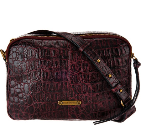 Joelle Hawkens by Treesje Croco Embossed Camera Bag- Lidia