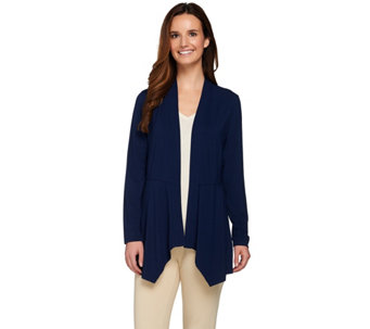 """As Is"" Susan Graver Dolce Knit Long Sleeve Cardigan - A282983"
