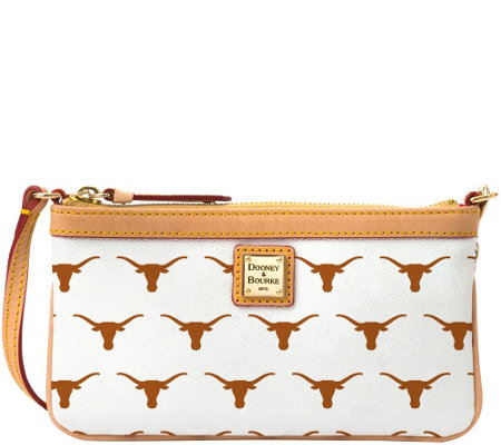 Dooney & Bourke NCAA University of Texas Slim Wristlet