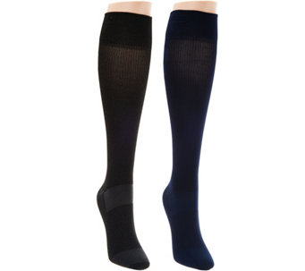 Catawba Set of 2 Foot Comfort Compression Socks - A284683