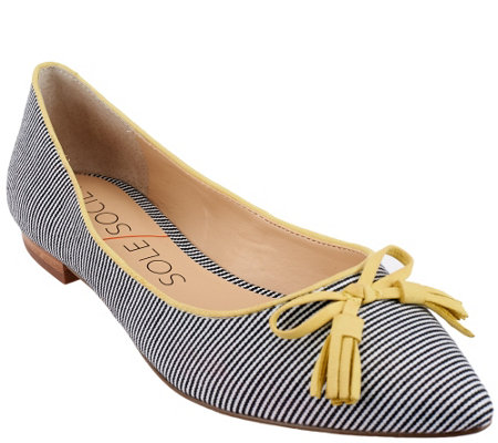 """As Is"" Sole Society Suede Flats with Tassels - Ruthie"