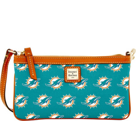 Dooney & Bourke NFL Dolphins Large Slim Wristlet