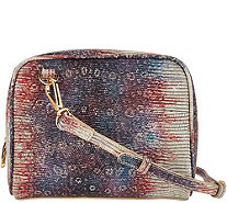 LOGO by Lori Goldstein Embossed Crossbody Double Bag - A287183