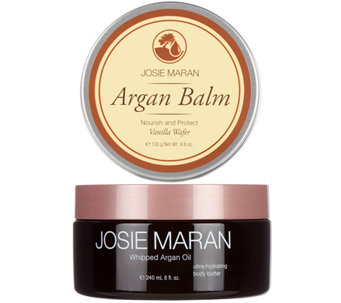 Josie Maran Body Butter & Balm Duo in Vanilla Wafer - A288383