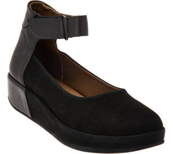 """As Is"" FLY London Slip-on Shoes with Adj. Strap - Bana - A290883"