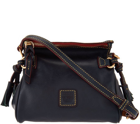 """As Is"" Dooney & Bourke Florentine Leather Mini Zip Crossbody"