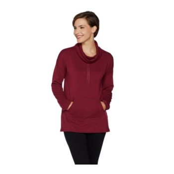 Cuddl Duds Comfortwear French Terry Cowl Neck Sweatshirt
