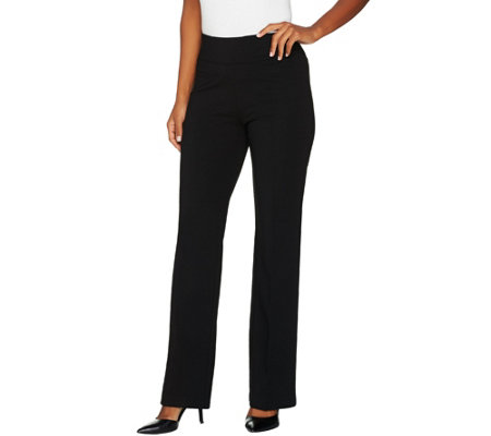 """As Is"" Kelly by Clinton Kelly_Petite Pull-On Bootcut Pants"