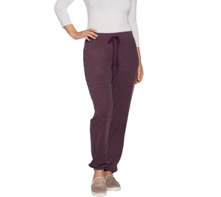 LOGO by Lori Goldstein Brushed Jersey Pull-On Ankle Pant