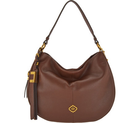 """As Is"" orYANY Pebble Leather & Suede Hobo- Gabriella"