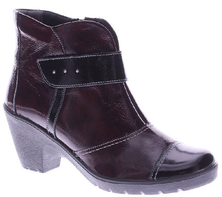 Spring Step Leather Ankle Boots with Lug Outsole - Manifest