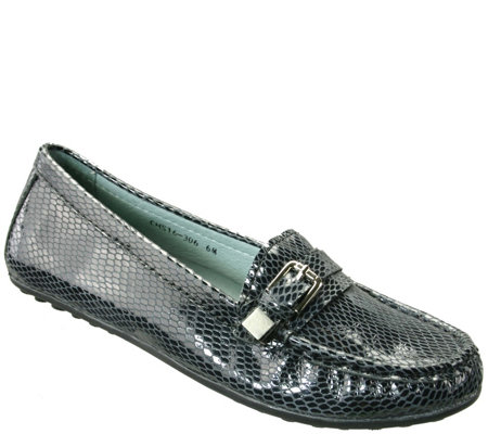 David Tate Leather Moccasins - Tiffany