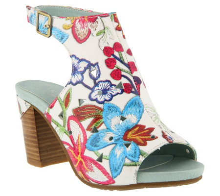 L'Artiste by Spring Step Leather Sandals - Tapestry