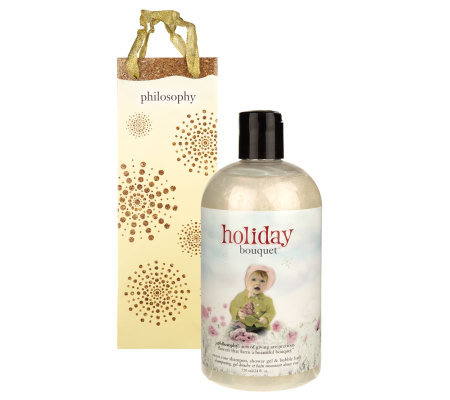 philosophy holiday bouquet sweet floral shower gel 24oz with gift bag