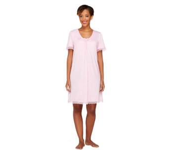 Brajama V-Neck Nightgown w/ Wirefree Bra - A212384