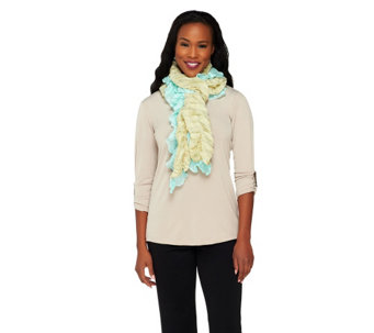 Accessory Network Two Tone Ruffle Stretch Scarf - A217484