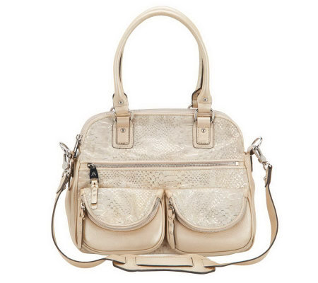 Aimee Kestenberg Leather Lucy Satchel w/Front Pockets