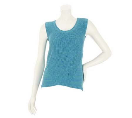 Nicole Richie Collection Sleeveless Sweater with Seaming Detail