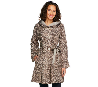 Status by Star Jones Reversible Coat with Pleated Hood - A252484