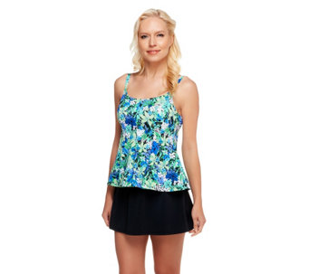Fit 4 U Tummy Islander Cami Peplum Skirtini - A252584