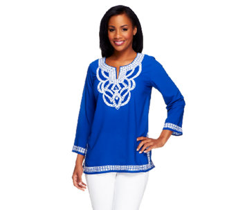Linea by Louis Dell'Olio Embroidered Tunic - A253384