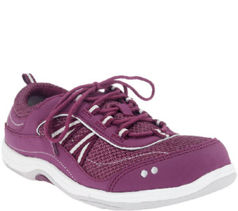Ryka Macie Leather & Mesh Lace Up Sneakers - A254184