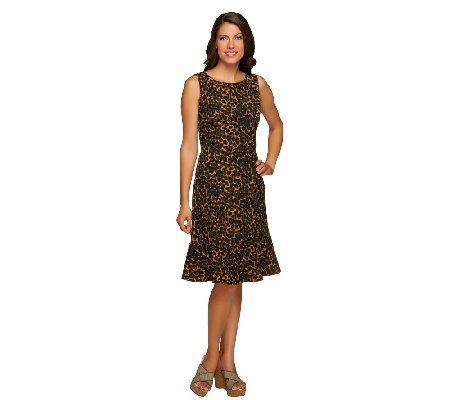 Isaac Mizrahi Live! 24/7 Stretch Animal Print Dress
