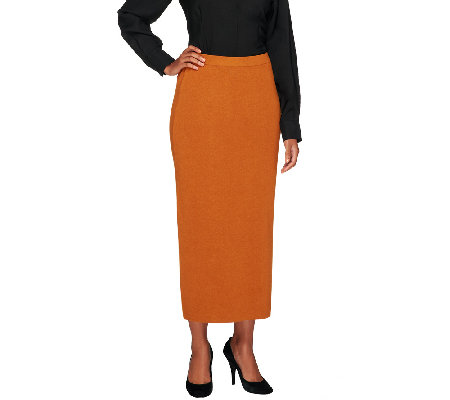 Linea by Louis Dell'Olio Whisper Knit Mid Calf Skirt