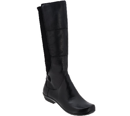 Dansko Leather Tall Shaft Boots - Odette