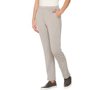 LOGO Lounge by Lori Goldstein Regular Pants with Mesh Trim on Pockets - A273384
