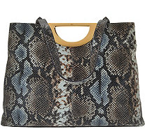 G.I.L.I. Exotic Embossed Leather Tote - A276584