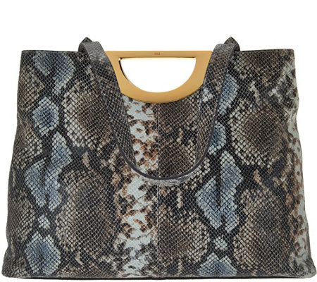 G.I.L.I. Exotic Embossed Leather Tote