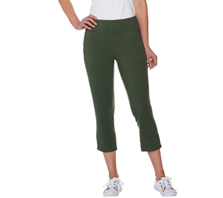 Denim & Co. Active Crop Pants with Back Vent Detail