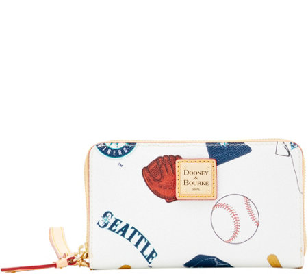Dooney & Bourke MLB Mariners Zip Around Phone Wristlet