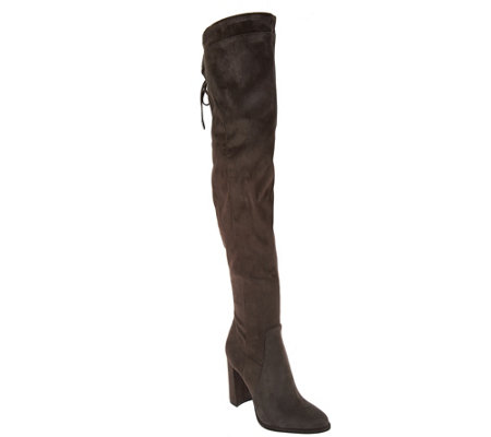 Marc Fisher Faux Suede Thigh High Boots - Nio