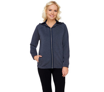 """As Is"" Linea Leisure by Louis Dell'Olio Zip Front Hoodie - A284284"