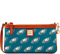 Dooney & Bourke NFL Eagles Large Slim Wristlet - A285784
