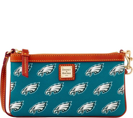 Dooney & Bourke NFL Eagles Large Slim Wristlet