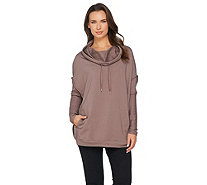 AnyBody Loungewear Cozy Knit French Terry Sweatshirt - A286584