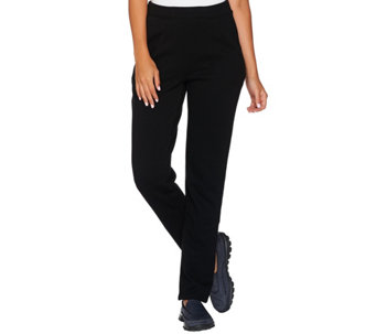 """As Is"" Denim & Co. Active Petite Slim Leg Full Length Pant w/Pockets - A290584"