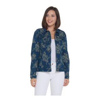 Women with Control My Wonder Denim Floral Jacquard Jacket