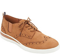 ED Ellen DeGeneres Leather Lace-up Sneakers - Averie - A297284