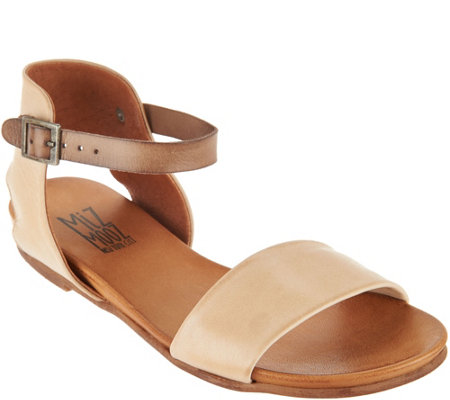 """As Is"" Miz Mooz Leather Ankle Strap Sandals - Alanis"